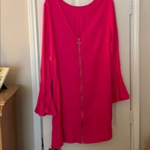 Beautiful pink dress with bell sleeves